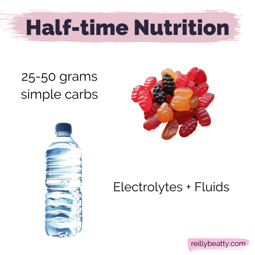 healthy half-time snacks for soccer players
