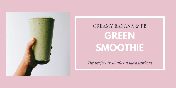 banana peanut butter green smoothie