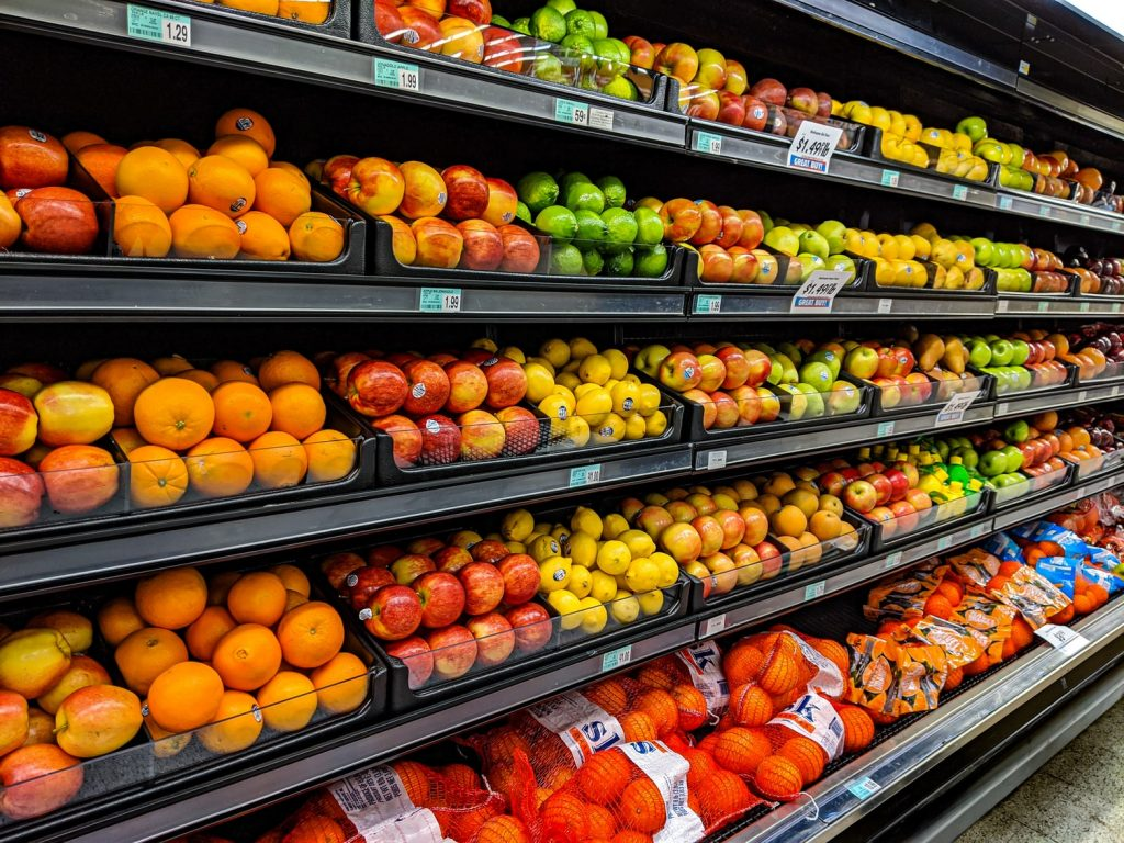 Fresh fruit in the grocery store