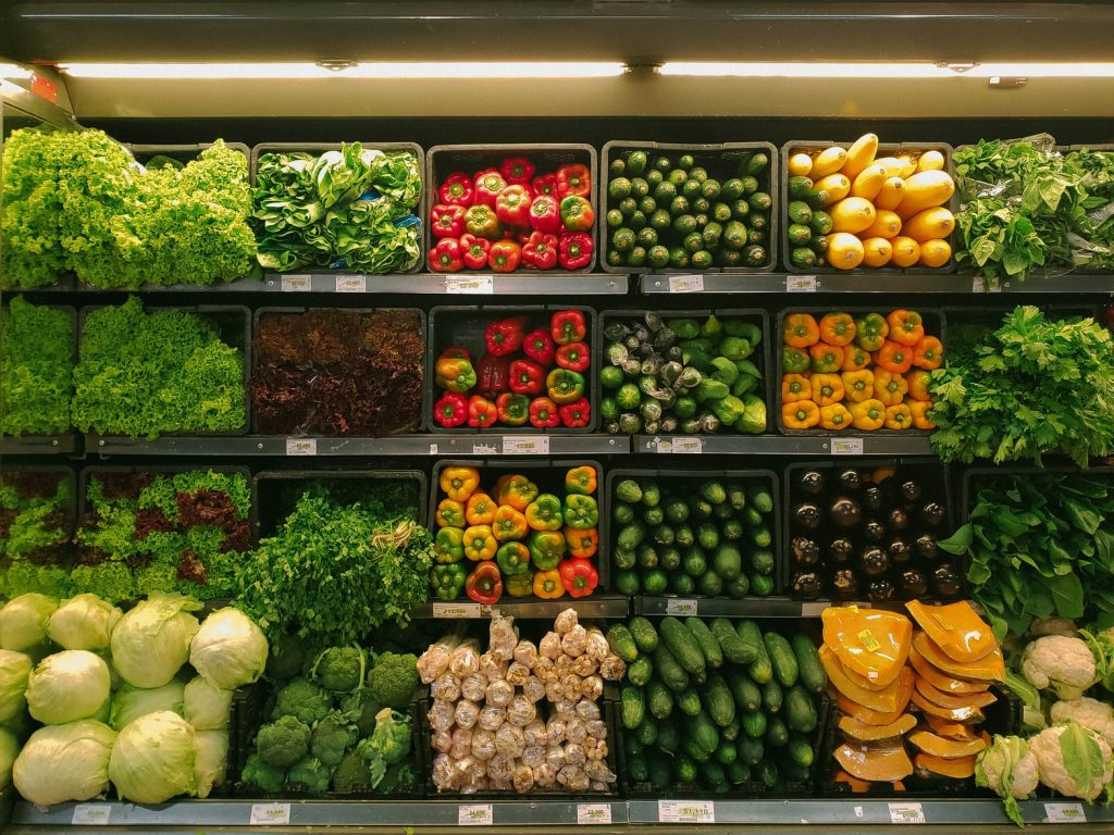 Fresh produce in the grocery store