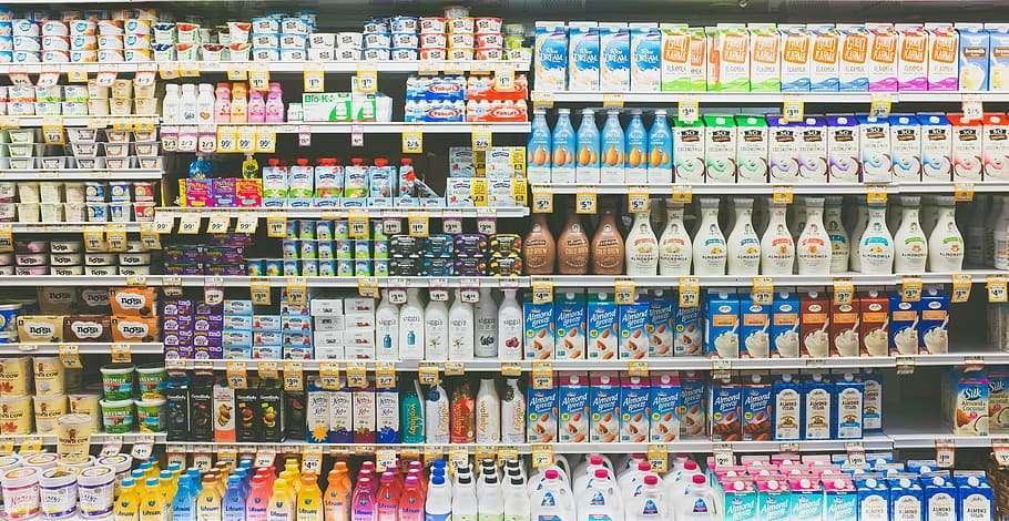 Milk and dairy free milk alternatives