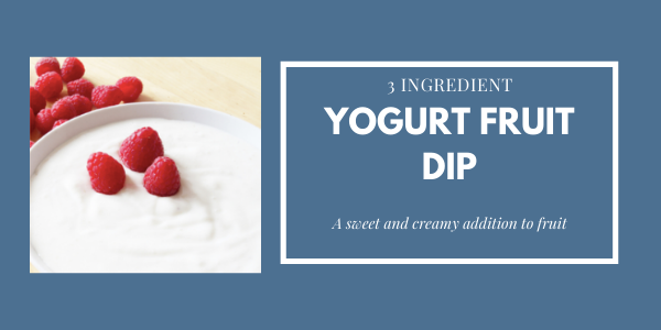 yogurt fruit dip with raspberries